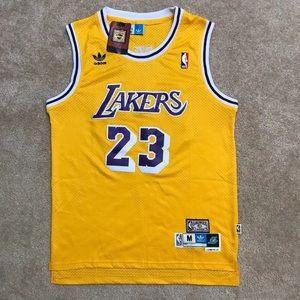 4d25254b5342 Mitchell   Ness Shirts - Throwback LeBron James lakers NBA jersey